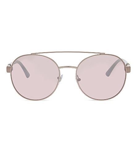 BVLGARI B. Zero1 6085 圆框太阳镜 (粉红色