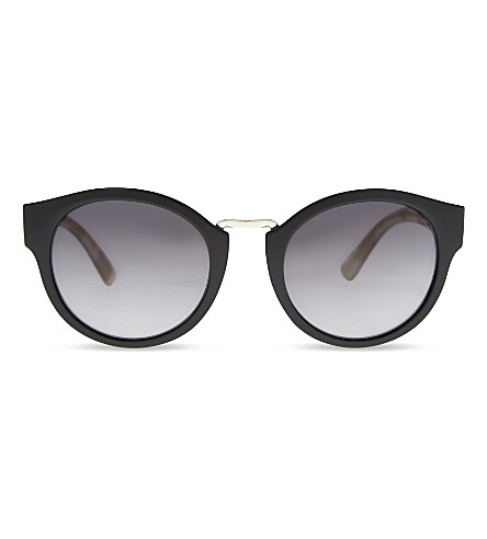 BURBERRY B2447 round-frame sunglasses (Black