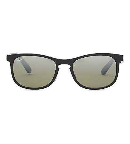 RAY-BAN Rb4263 Chromance square sunglasses (Shiny+black
