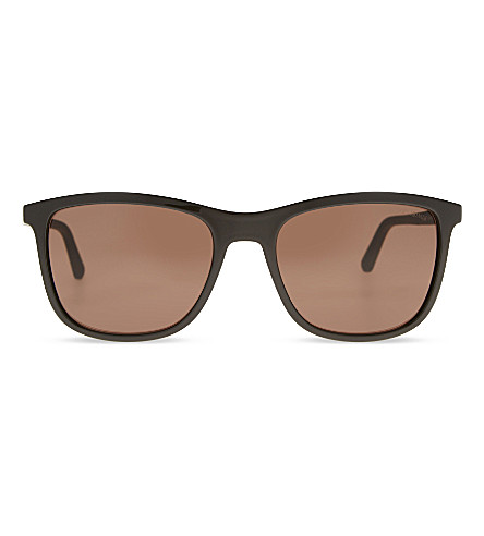 GIORGIO ARMANI AR8087 Square-frame sunglasses (Brown