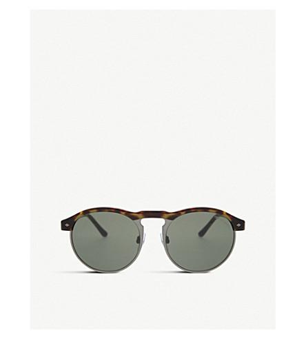 GIORGIO ARMANI AR8090 round-frame sunglasses (Havana