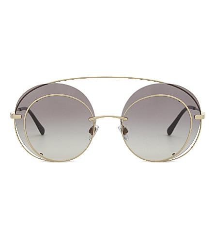 GIORGIO ARMANI Ar6043 Swirl round-frame sunglasses (Matte+pale+gold