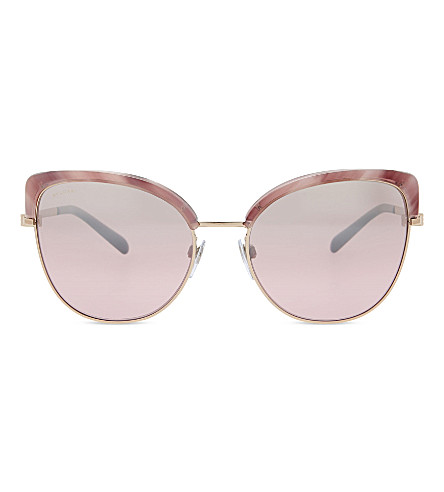 BVLGARI 0BV6082 Bvlgari Bvlgari cat-eye sunglasses (Pink+gold