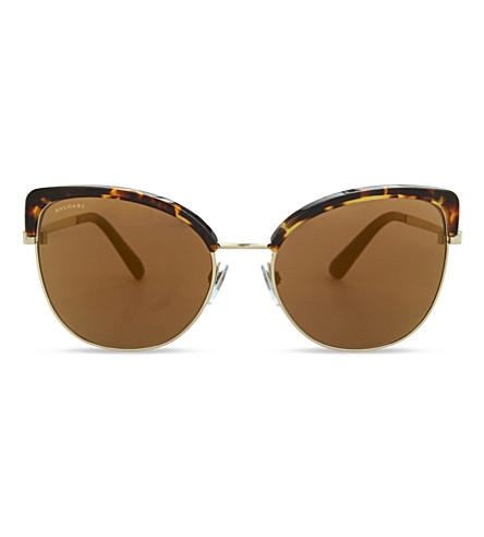 BVLGARI BV6082 Bvlgari Bvlgari cat eye-frame sunglasses (Pale+gold