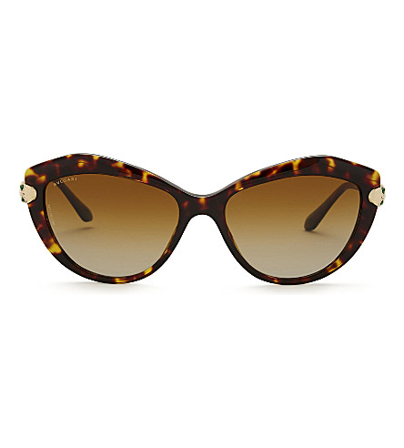 BVLGARI Bv8186 Le Gemme cat-eye frame sunglasses (Havana