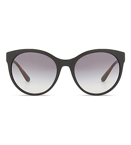 BURBERRY Be4236 round-frame sunglasses (Balck