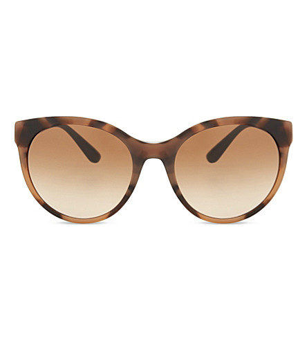 BURBERRY Be4236 round-frame sunglasses (Spotted+brown