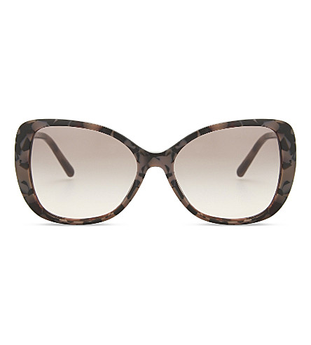 BURBERRY Be4238 butterfly-frame sunglasses (Spotted+brown
