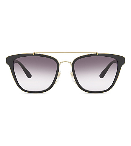 BURBERRY Be4240 square-frame sunglasses (Black