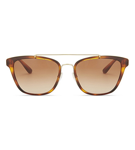 BURBERRY Be4240 square-frame sunglasses (Light+havana