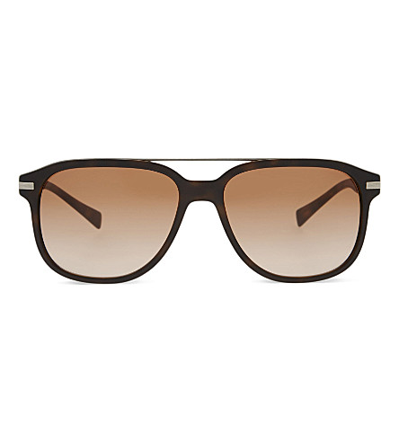 BURBERRY 0BE4233 square-frame sunglasses (Matte+dark+havana
