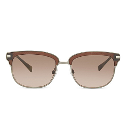 BURBERRY Be4232 square-frame sunglasses (Brushed+gunmetal