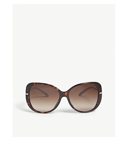 TIFFANY & CO Havana butterfly-frame sunglasses (Brown