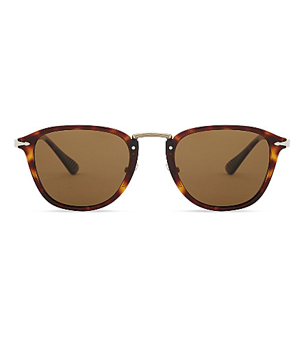 PERSOL Calligrapher PO3165S polarised square-frames sunglasses (Brown