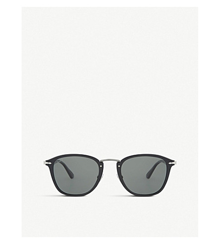 PERSOL Po3165s square-frame sunglasses (Black