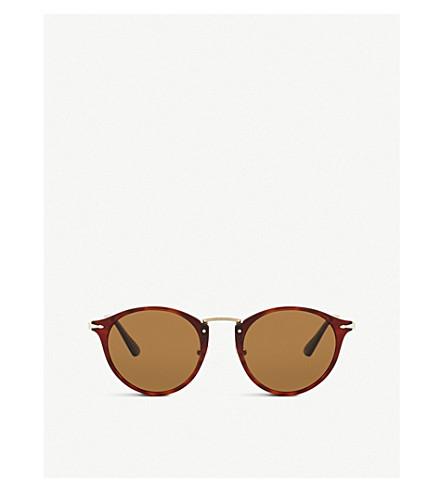 PERSOL Po3166S round-frame tortoiseshell sunglasses (Brown