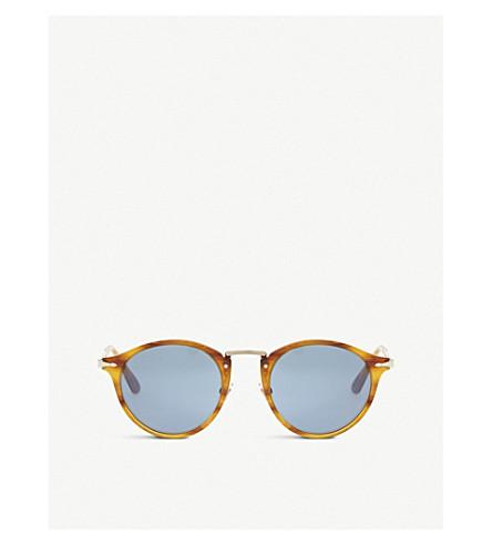 PERSOL Po3166S Havana Phantos round-frame tortoiseshell sunglasses (Brown