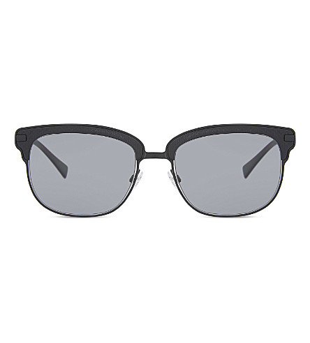 BURBERRY Be4232 square-frame sunglasses (Black+rubber