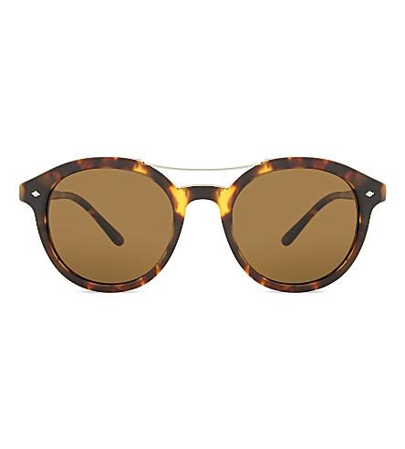 GIORGIO ARMANI AR8007 Frames of Life round-frame sunglasses (Matte+havana