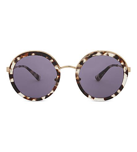 PRADA Pr50ts round-frame sunglasses (White