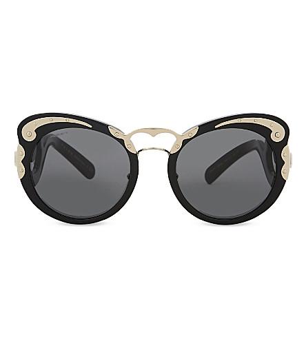 PRADA PR07Ts round-frame sunglasses (Black
