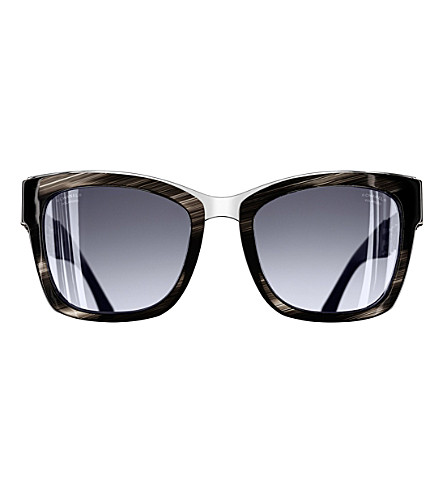 CHANEL Square sunglasses (Black