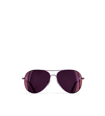 CHANEL Pilot sunglasses (Burgundy