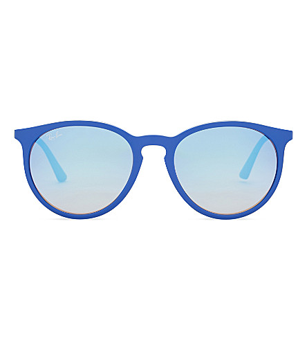 RAY-BAN Rb4274 round-frame sunglasses (Shiny+blue