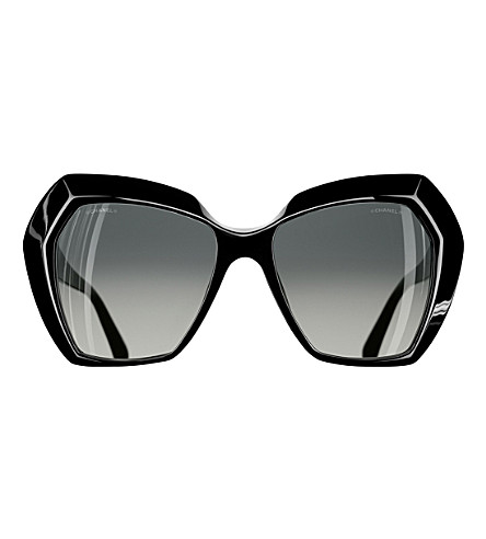 CHANEL CH5364 butterfly-frame sunglasses (Black