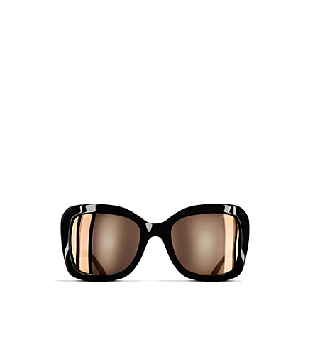 CHANEL Butterfly sunglasses (Black+and+pink+gold