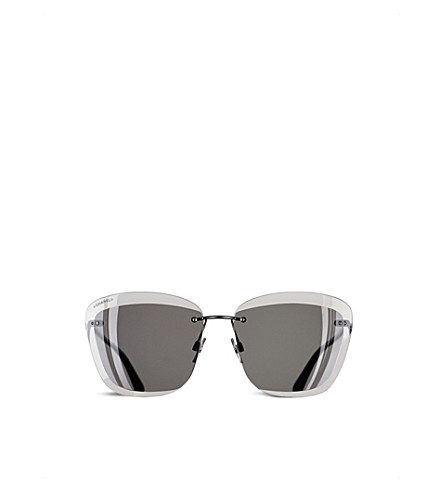 CHANEL Butterfly sunglasses (Dark+silver+and+grey
