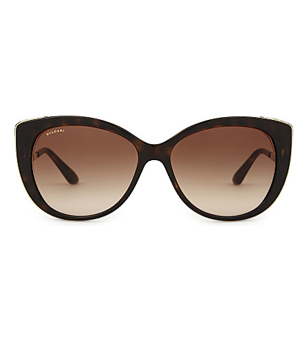 BVLGARI Bv8178 cat-eye sunglasses (Dark+havana