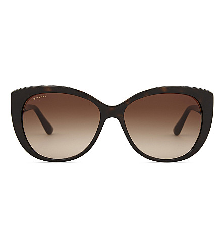BVLGARI Bv8169 square-frame sunglasses (Dark+havana