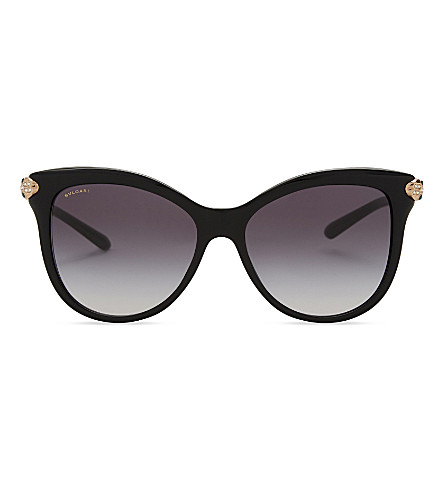 BVLGARI Bv8188b Serpenti butterfly-frame sunglasses (Black