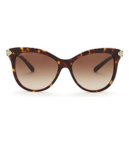 BVLGARI Bv8188 cat-eye sunglasses (Dark+havana