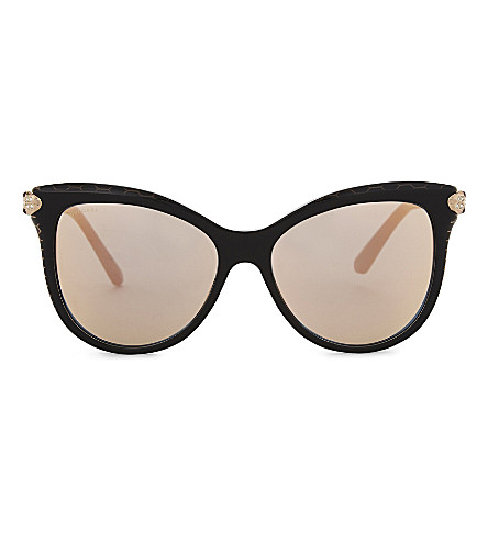 BVLGARI Bv8188 cat-eye sunglasses (Black