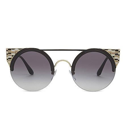 BVLGARI BV6088 round-frame sunglasses (Black