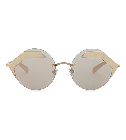 BVLGARI Serpenti 0BV6089 round sunglasses (Gold
