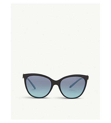 TIFFANY & CO Tf4131 butterfly-frame sunglasses (Blue