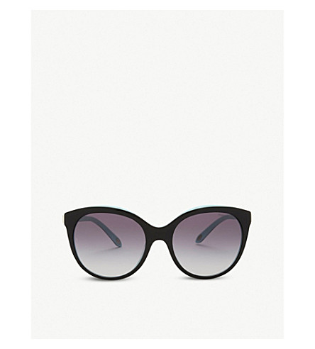 TIFFANY & CO Tf4133 round-frame sunglasses (Black