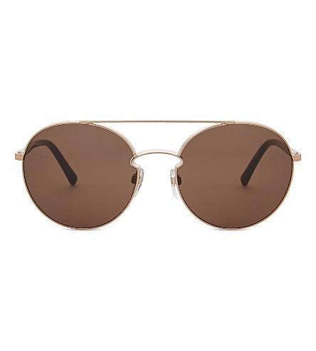 VALENTINO Va2002 round-frame sunglasses (Rose+gold
