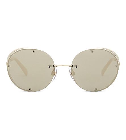 VALENTINO Va2003 round-frame sunglasses (Light+gold