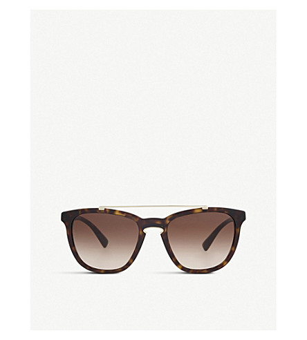 VALENTINO Va4002 square-frame sunglasses (Havana