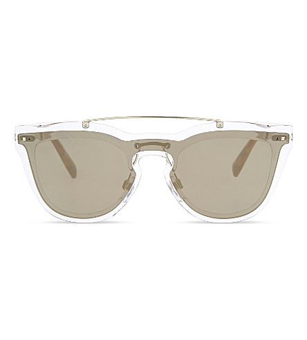 VALENTINO Va4008 oval-frame sunglasses (Trasparent