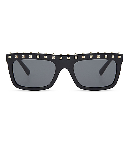 VALENTINO Va4010 rectangle-frame sunglasses (Black