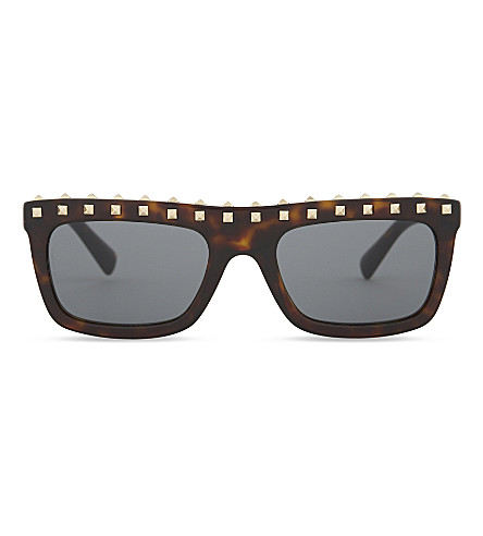 VALENTINO Va4010 square-frame sunglasses (Havana