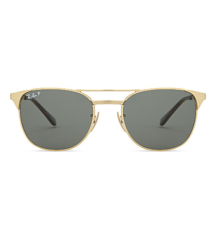 RAY-BAN Rb3429 Signet square-frame sunglasses (Gold
