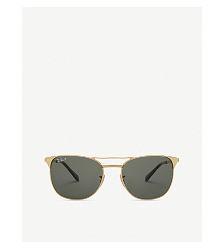 RAY-BAN Rb3429 square-frame sunglasses (Gold