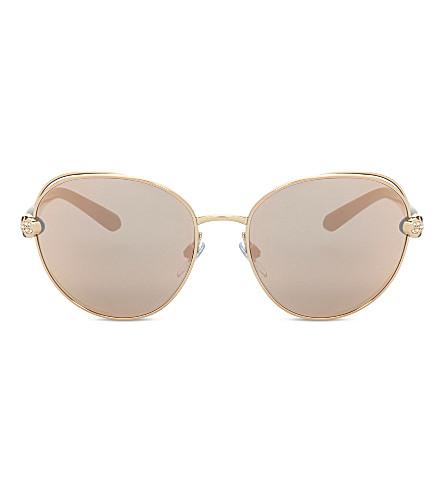 BVLGARI Bv6087b Serpenti round-frame sunglasses (Pink+gold
