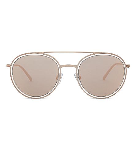 GIORGIO ARMANI Ar6051 Crystal round-frame sunglasses (Crystal